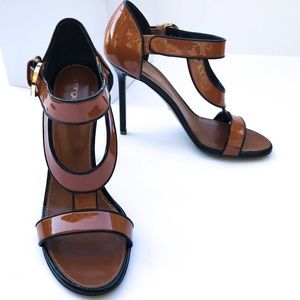Sergio Rossi Beverly Patent Leather Heel 38